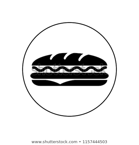 Sandviç sosis ekmek tipik İspanya restoran Stok fotoğraf © guillermo