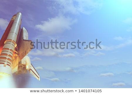 Stok fotoğraf: Space Rocket Engine