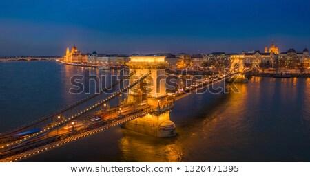 Budapest Duna Magyarország víz épület templom Stock fotó © Bertl123