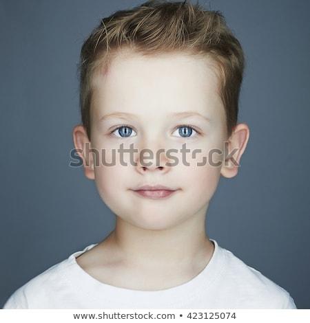 közelkép · portré · aranyos · fiatal · srác · kék · szemek · fehér - stock fotó © wavebreak_media