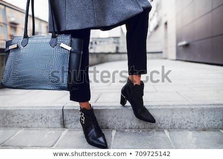 Ladies short black boots Stock photo © Antartis