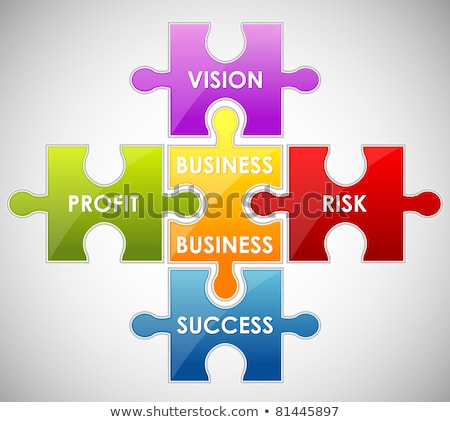 Illustration Of Piece Of Jigsaw Puzzle Showing Business Content Stockfoto © Vectomart