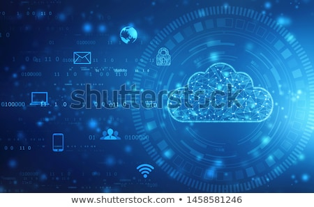 serwerów · komputera · laptop · niebieski · pojęcia - zdjęcia stock © kentoh