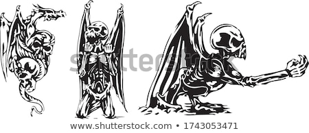 Bat Wing Skull Stock photo © fizzgig