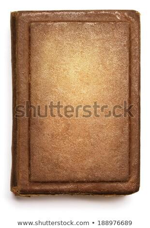 öreg · durva · bőr · könyvborító · mintázott · elnyűtt - stock fotó © lunamarina