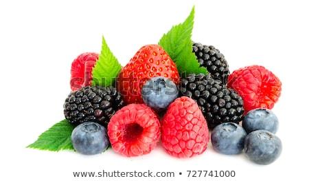 Jagody deser mieszany żywności czerwony Zdjęcia stock © lunamarina