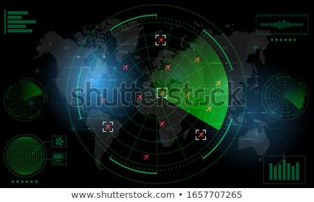 Világ radar világtérkép képernyő konzerv térkép Stock fotó © ArenaCreative