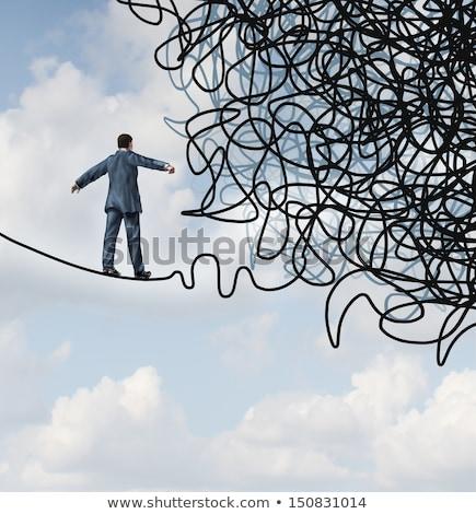 риск · планирования · руководство · решения · бизнесмен · ходьбе - Сток-фото © lightsource