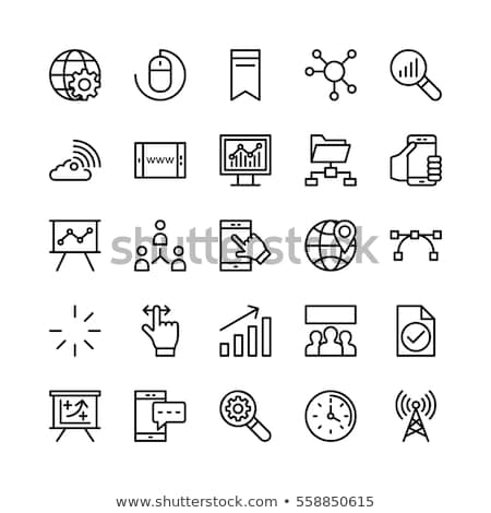 digit icons Stock photo © silense