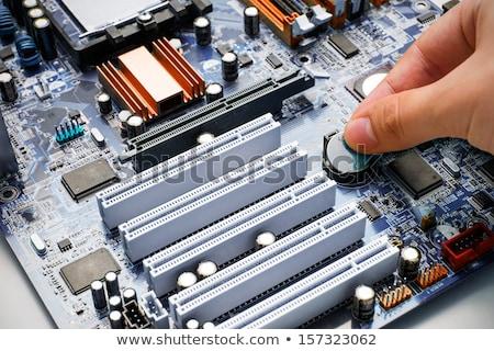 main · batterie · pc · carte · mère · affaires - photo stock © simpson33