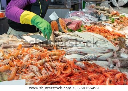 Барселона рыбы рынке борьбе Сток-фото © d13