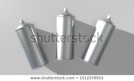 Três colorido horizontal spray isolado branco Foto stock © gavran333
