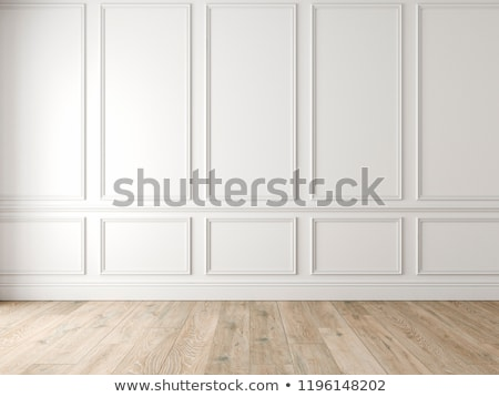 wooden wall with window stock photo © hochwander