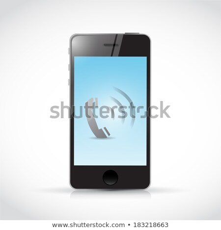 missed call illustration icon isolated over a white background Stock photo © alexmillos