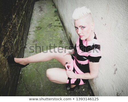 Fetish woman in latex outfit and high heels   stock photo © Elisanth