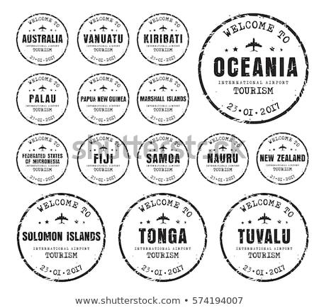 пост штампа Тувалу 1980 напечатанный футбола Сток-фото © Taigi