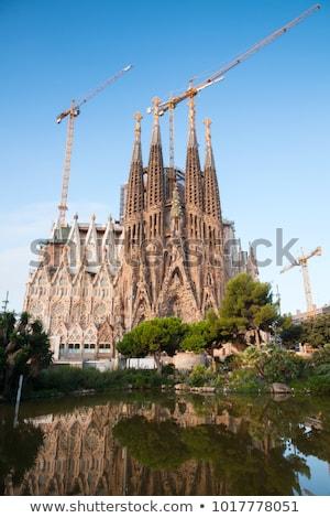 LA família lenyűgöző katedrális épület építkezés Stock fotó © joyr