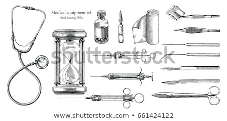 Syringe with vials and stethoscope Stock photo © Zerbor
