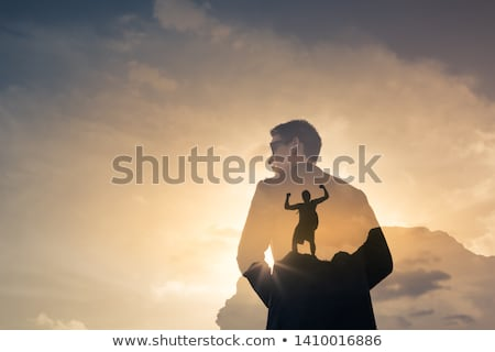 Foto stock: Never Give Up