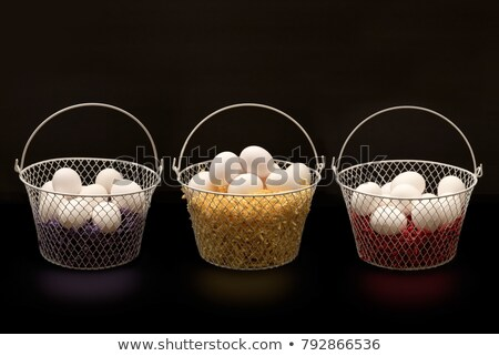 свежие яйца проволоки корзины несколько Vintage Сток-фото © klsbear
