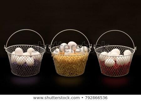 huevos · sal · pimienta · vista · mirando · hacia · abajo - foto stock © klsbear
