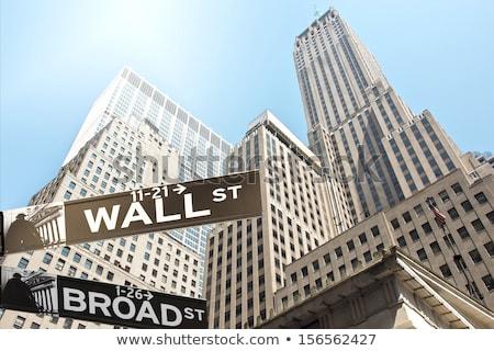 Wall Street teken vector straat achtergrond reizen Stockfoto © burakowski
