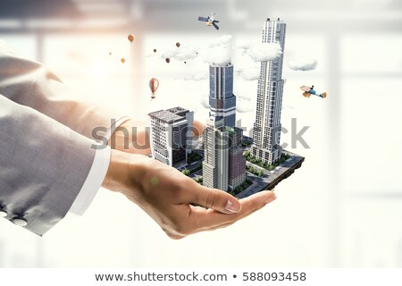 imóveis · raso · negócio · edifício · modelo - foto stock © hasloo