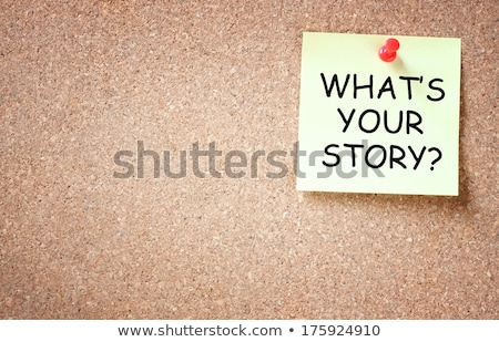 Foto d'archivio: Whats Your Story Sticky Note