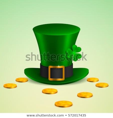 zielone · blask · Shamrock · strony · papieru - zdjęcia stock © alphababy