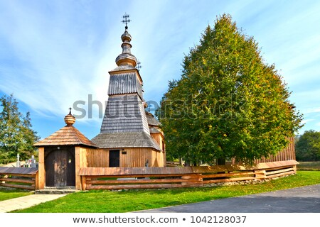 wooden church, Ladomirova, Slovakia Stock photo © phbcz