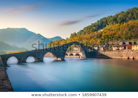 Köy Toskana tipik manzara İtalya ev Stok fotoğraf © w20er