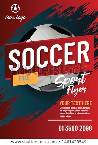 football · tournoi · flyer · sport · balle · Retour - photo stock © rioillustrator