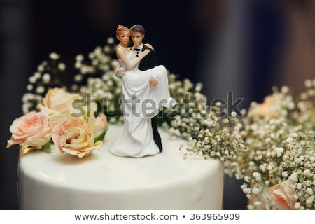 Noiva noivo fundo dança casamento branco Foto stock © gsermek