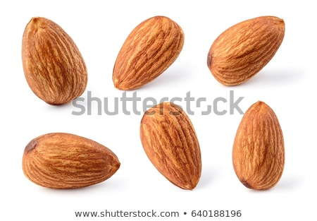 Foto stock: Almonds Isolated On The White Background