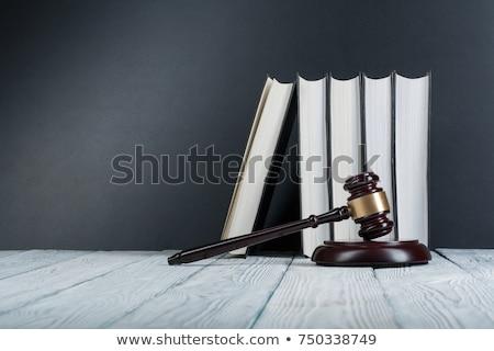 гражданский прав книга белый книга в твердой обложке изолированный Сток-фото © stevanovicigor