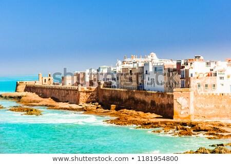Blauw boten Marokko 2014 vissen haven Stockfoto © KMWPhotography