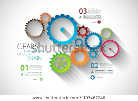 agy · infografika · sablon · vektor · elemek · réteges - stock fotó © davidarts