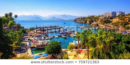 vízpart · híres · égbolt · ház · tenger · utazás - stock fotó © amok