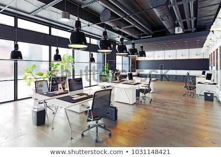 Boş ofis uzay iç modern gri Stok fotoğraf © russwitherington