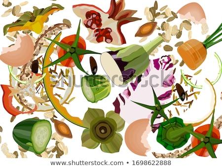 gıda · çöp · yoksul · beslenme · tablo · siyah - stok fotoğraf © tiero