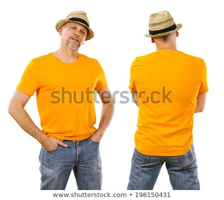 男 40代 着用 オレンジ シャツ 写真 ストックフォト © sumners