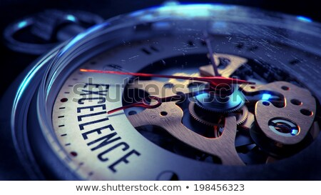 Stock photo: Excellence on Pocket Watch Face. Time Concept.