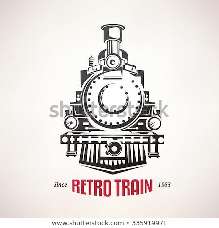 Velho trem seguir carro Foto stock © vanessavr