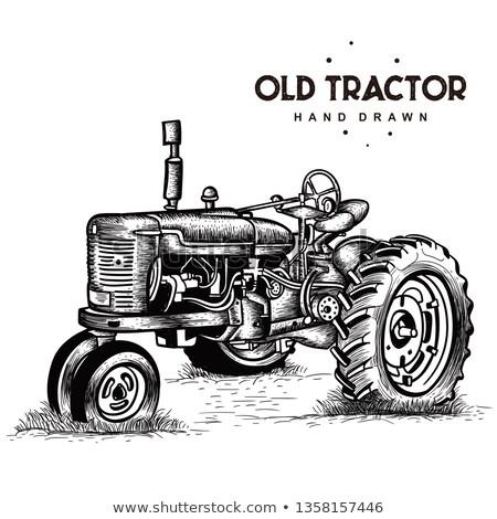 edad · tractor · alpino · primavera · trabajo - foto stock © vanessavr
