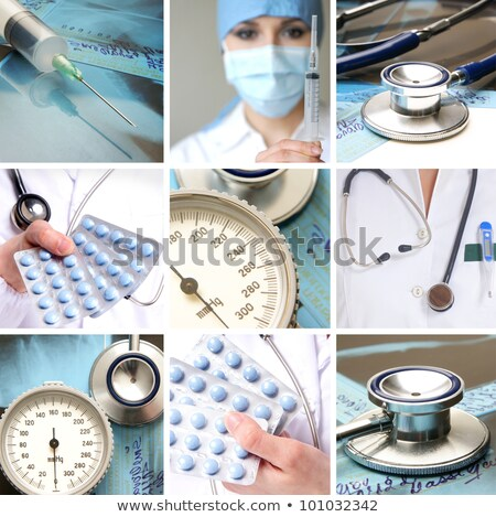 Sphygmomanometer on medical background Stock photo © simpson33
