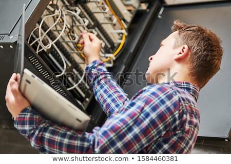 сеть подключение компьютер технологий веб Сток-фото © OleksandrO