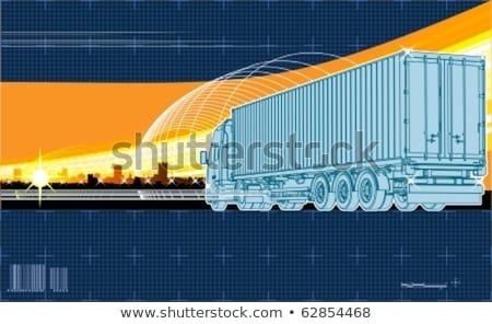 Vektor logisztikai téma háttér Stock fotó © Mechanik