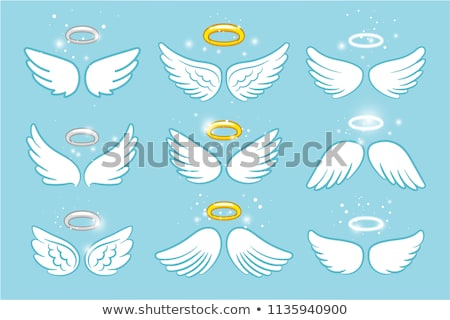 Cute cartoon angels isolated Stock photo © kariiika