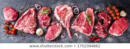 vesepecsenye · steak · előkészített · barbecue · grill · sekély · tűz - stock fotó © yelenayemchuk