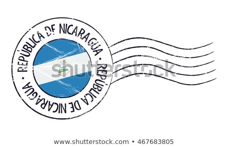 Postage stamp icon of nicaragua Stock photo © MikhailMishchenko